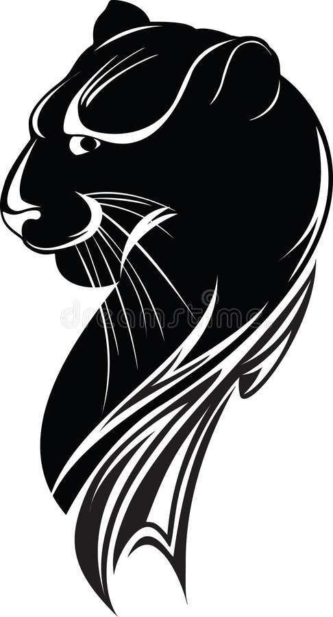 Download Black panther stock vector. Image of beast, nature, logo - 2617638