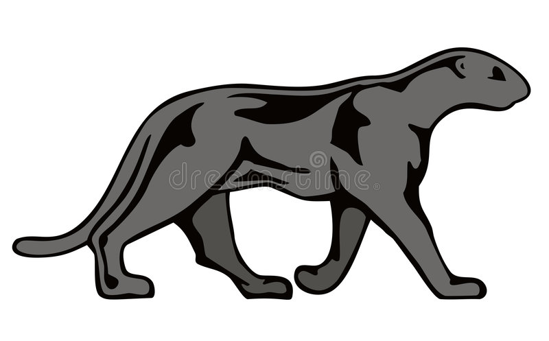 Download Black panther stock illustration. Image of leopard, lion - 3147362
