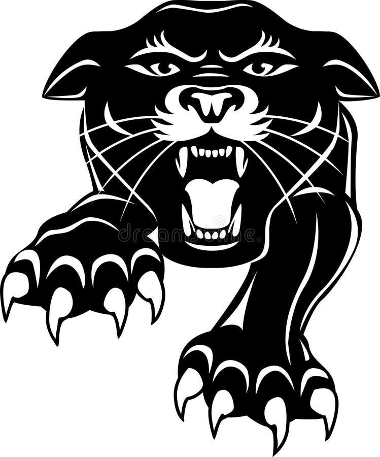 Black Panther Head Royalty Free Stock Photos