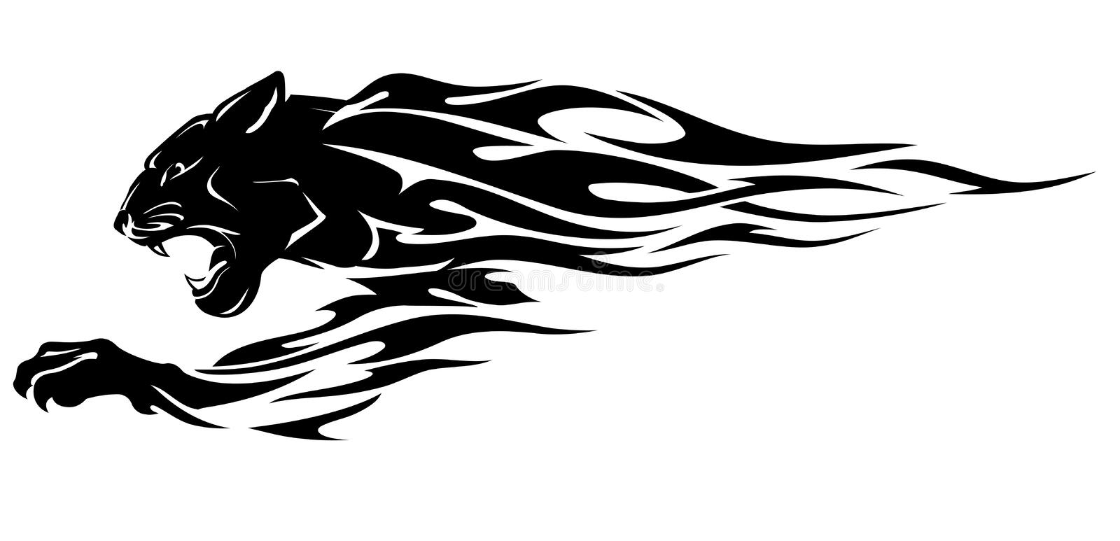 Black Panther Head Abstract Flame Stock Vector Illustration Of Large Silhouette 168794407