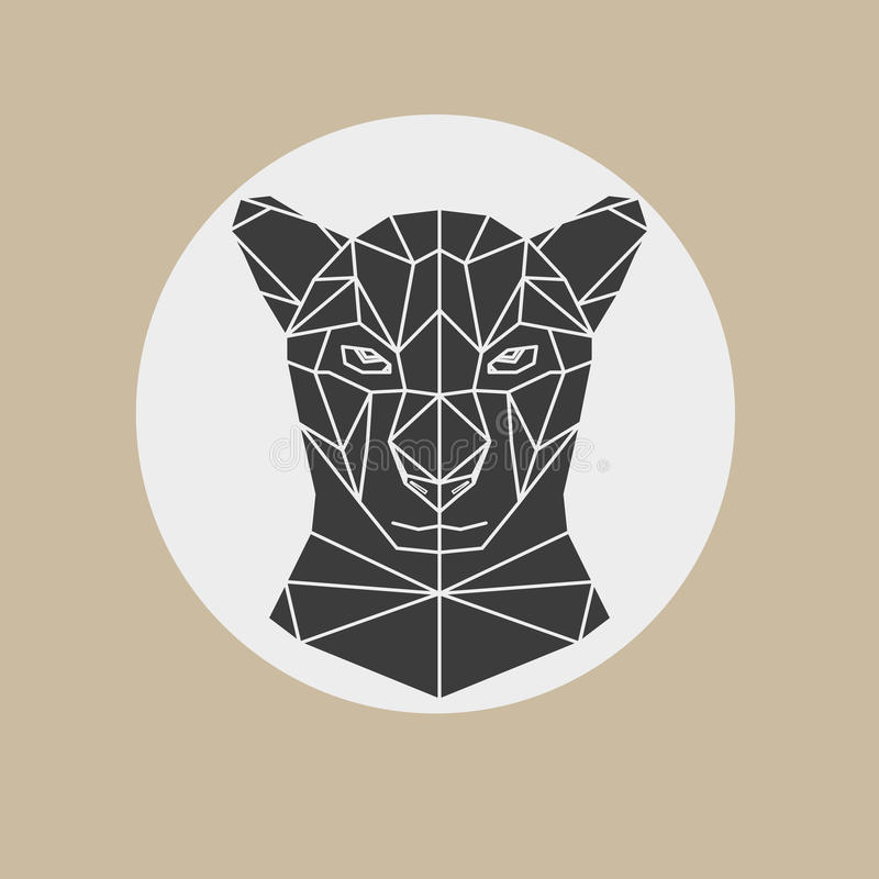 Black panther head vector illustration