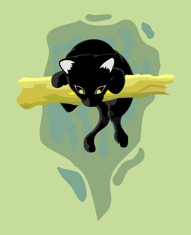 Download Black panther hunting stock vector. Illustration of feline - 20505566