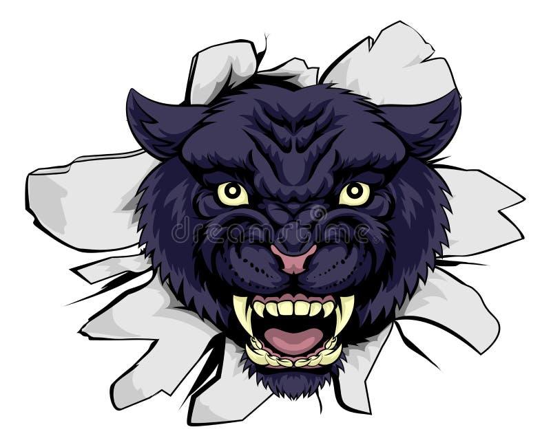 Black Panther Sports Mascot vector illustration
