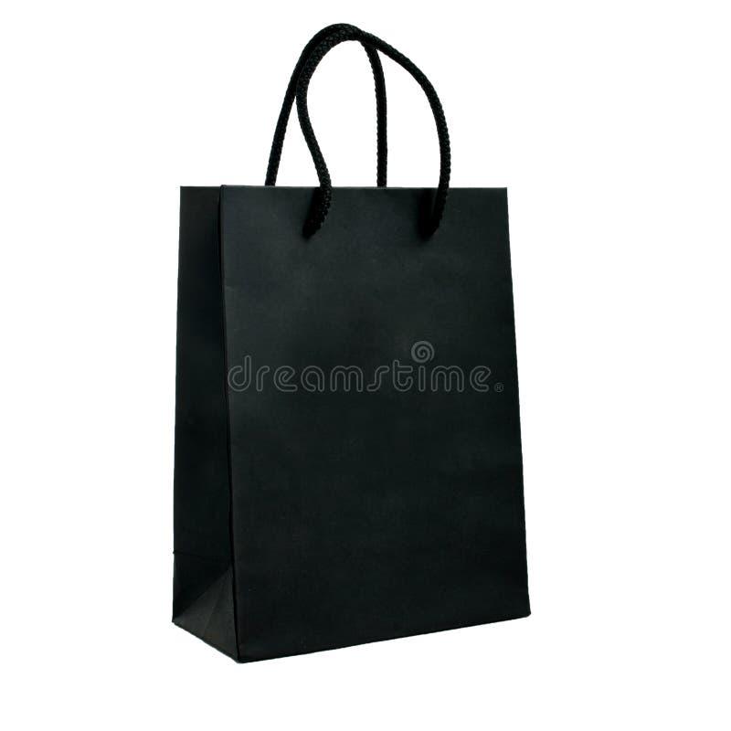Black paper bag stock images