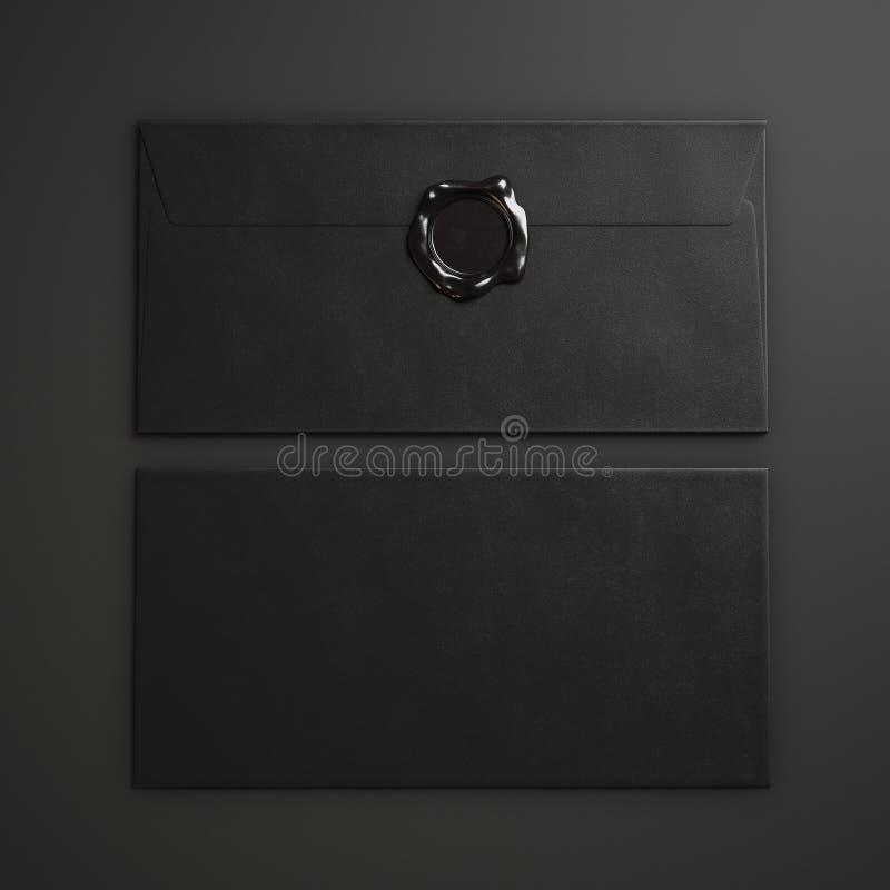Black Paper Envelopes Stock Image Image Of Seal Identity