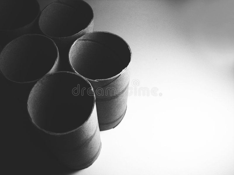 Black paper rolls royalty free stock images