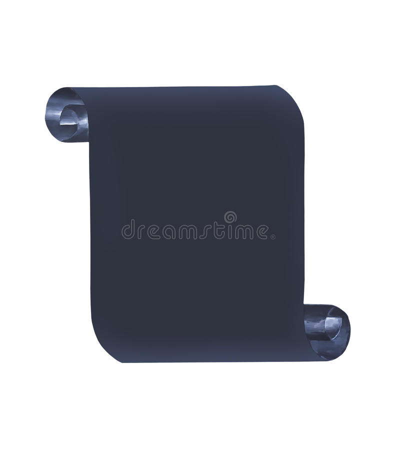 Download Black paper scroll stock photo. Image of message, roll - 39507918