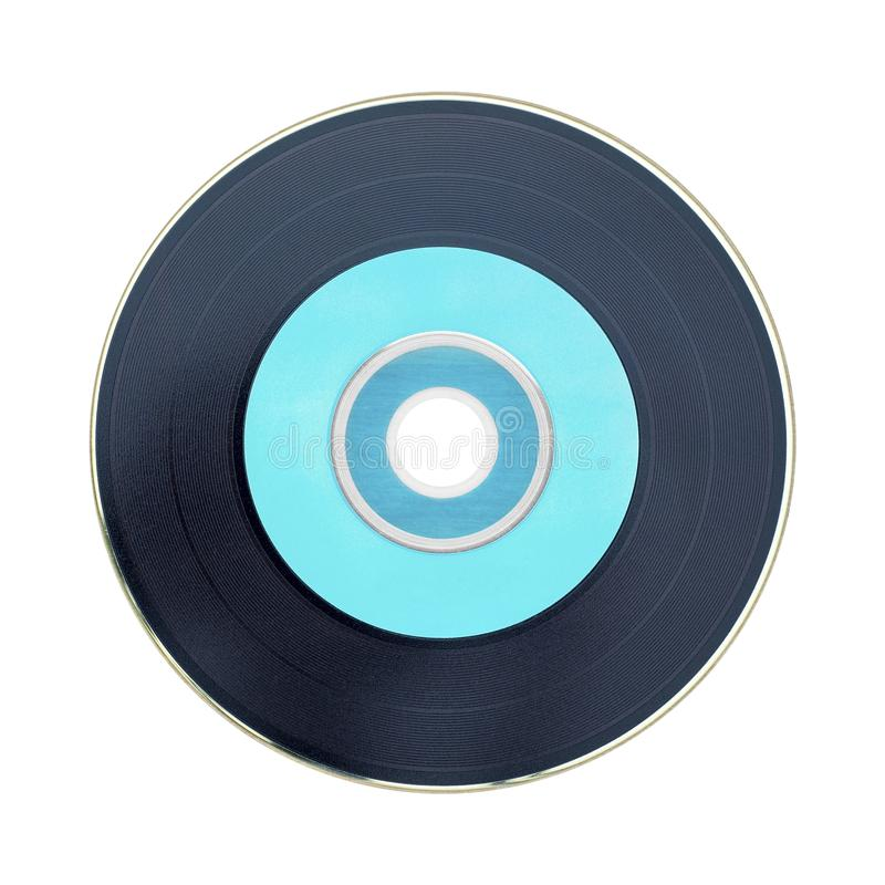 Black and pastel green cd isolated on white background. royalty free stock images