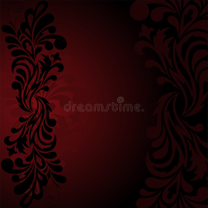 Black pattern on a dark background vector illustration