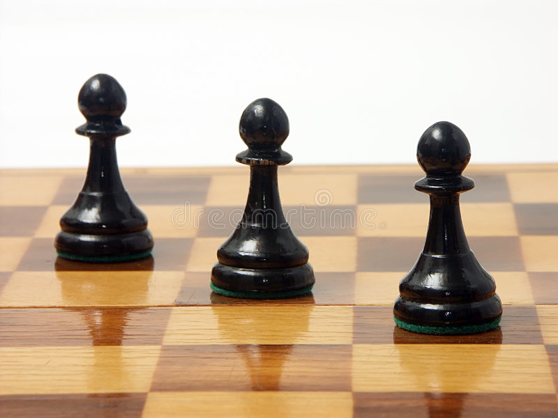 Download Black pawns stock image. Image of sport, imbalance, isolated - 143729