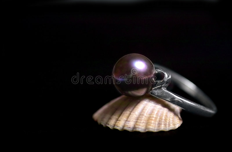 Download Black pearl stock photo. Image of adornment, gift, present - 192456