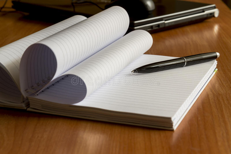 Download Black Pen And Notebook, Closeup Stock Photo - Image: 39387502