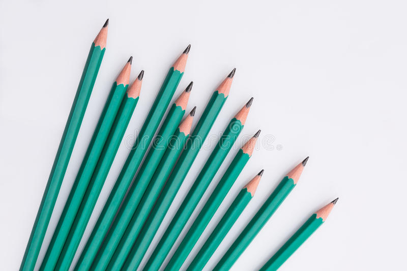 Black pencils royalty free stock photography