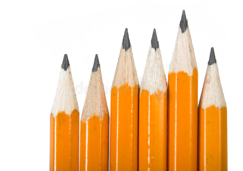 Download Black pencils over white stock image. Image of outstanding - 608243