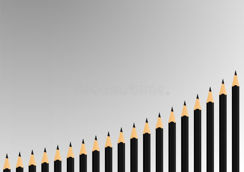 Black pencils - cdr format royalty free stock image