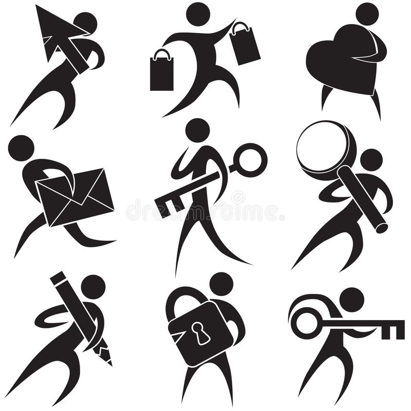 Black People Icons Stock Photography