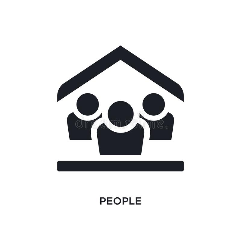 Black people isolated vector icon. simple element illustration from accommodation concept vector icons. people editable logo. Symbol design on white background stock illustration