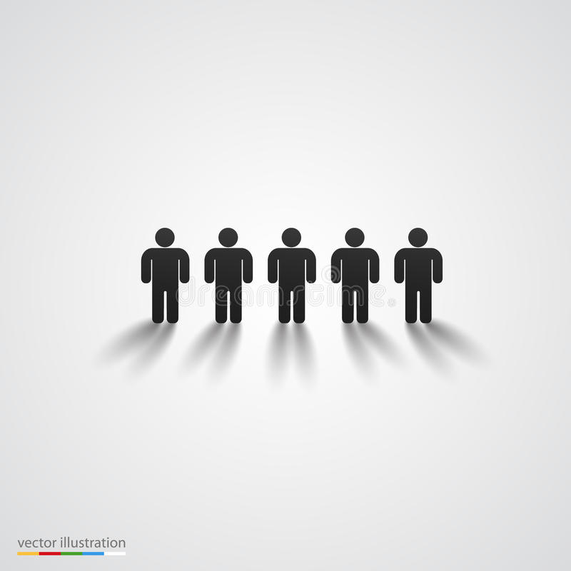 Black people silhouette row. Team concept royalty free illustration