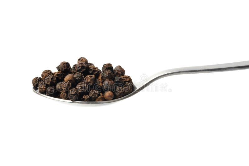 Download Black Pepper stock photo. Image of background, food, teaspoon - 20488270