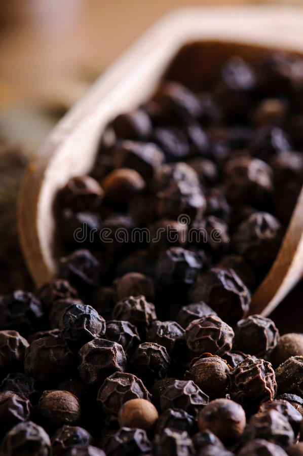 Download Black pepper stock image. Image of pepper, close, wooden - 22864041