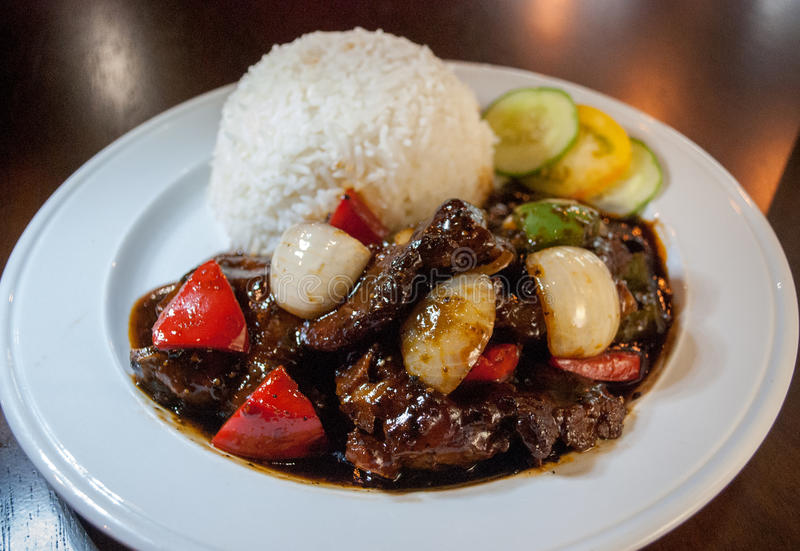 Black pepper beef stock photography