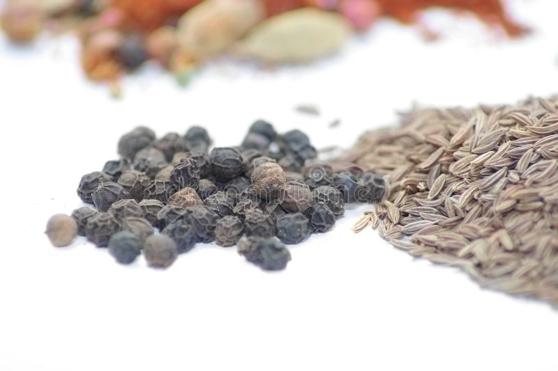 Black pepper and caraway seed