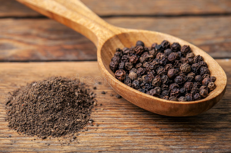 Black pepper ground royalty free stock photography