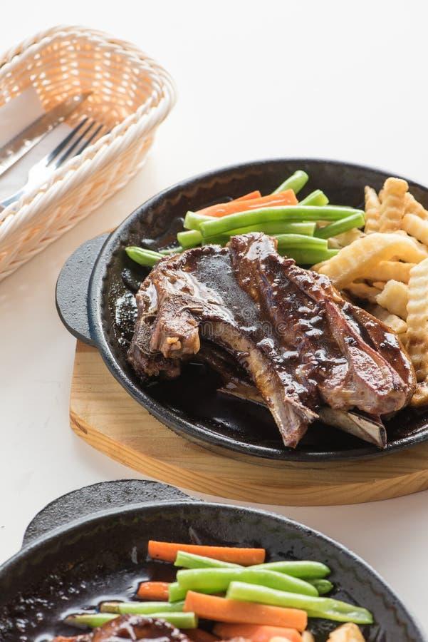 Black pepper lamb chop royalty free stock photo