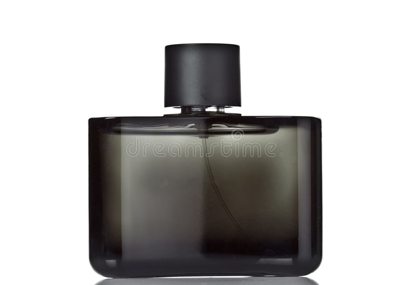 Black perfume bottle royalty free stock photo