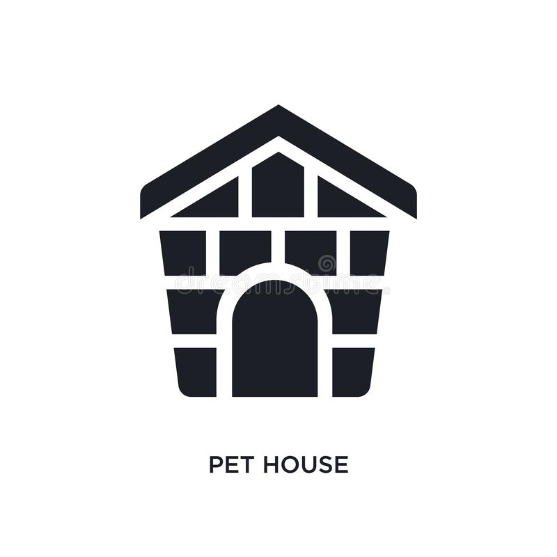black pet house isolated vector icon. simple element illustration from furniture & household concept vector icons. pet house vector illustration