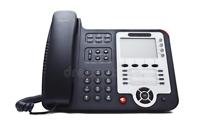 Black phone closeup royalty free stock photo