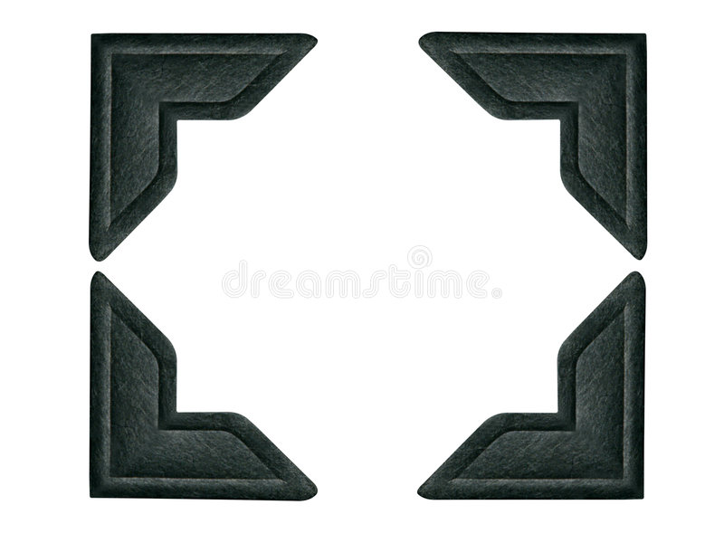 Black Photo Corners 1 (path included for each corner) royalty free stock images