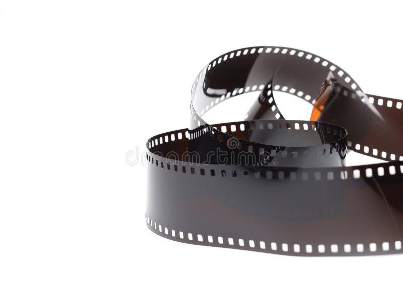 Black photo film isolated on white background royalty free stock images
