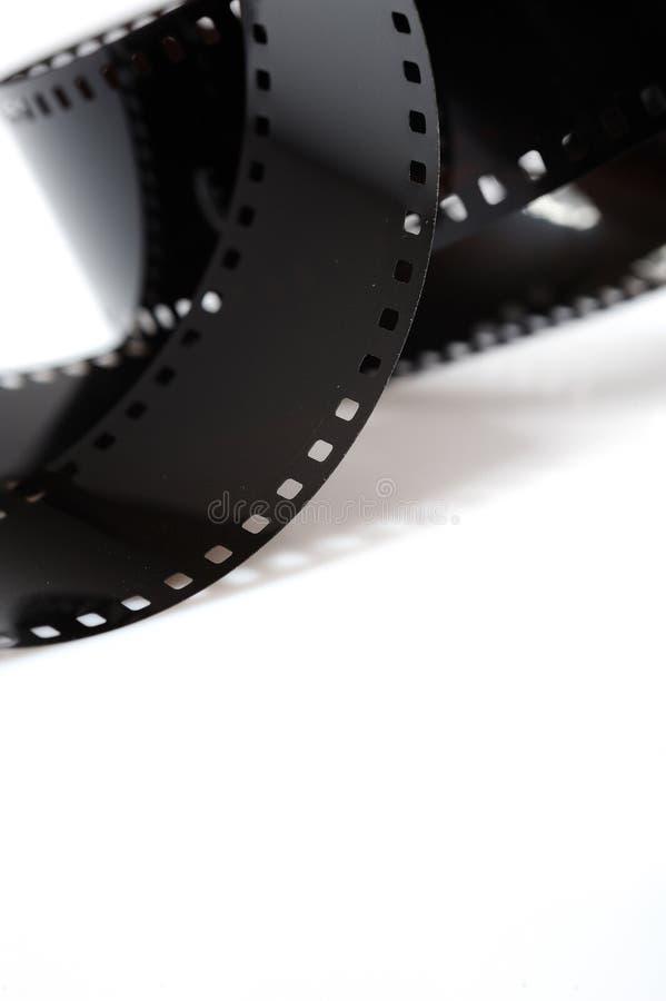 Black photo film isolated on white background royalty free stock photo