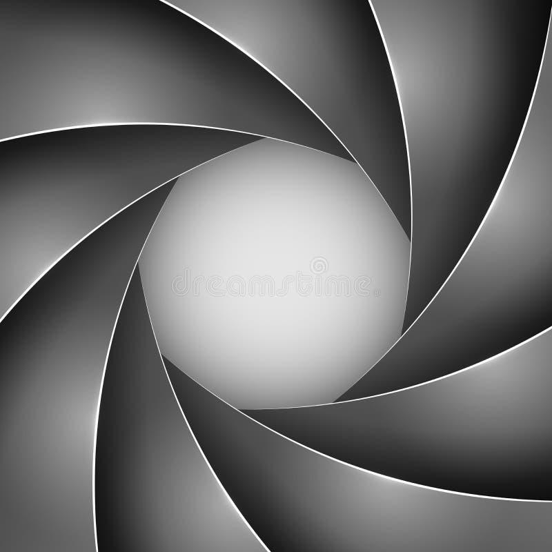 Black photo shutter aperture vector illustration