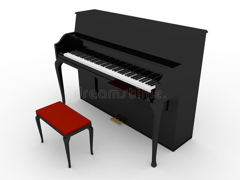 Download Black piano stock illustration. Image of concert, object - 25851412
