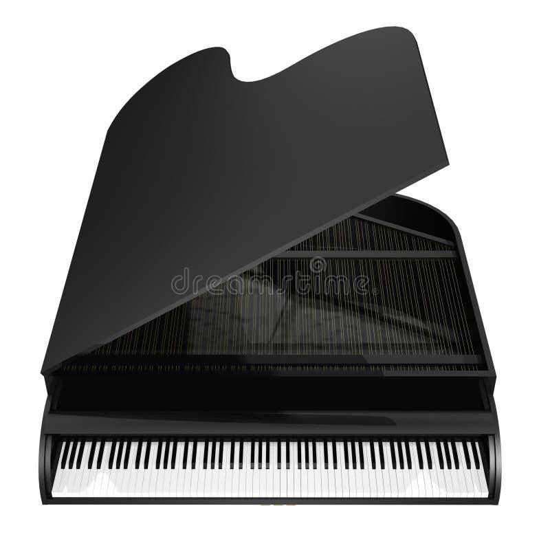 Black piano vector illustration