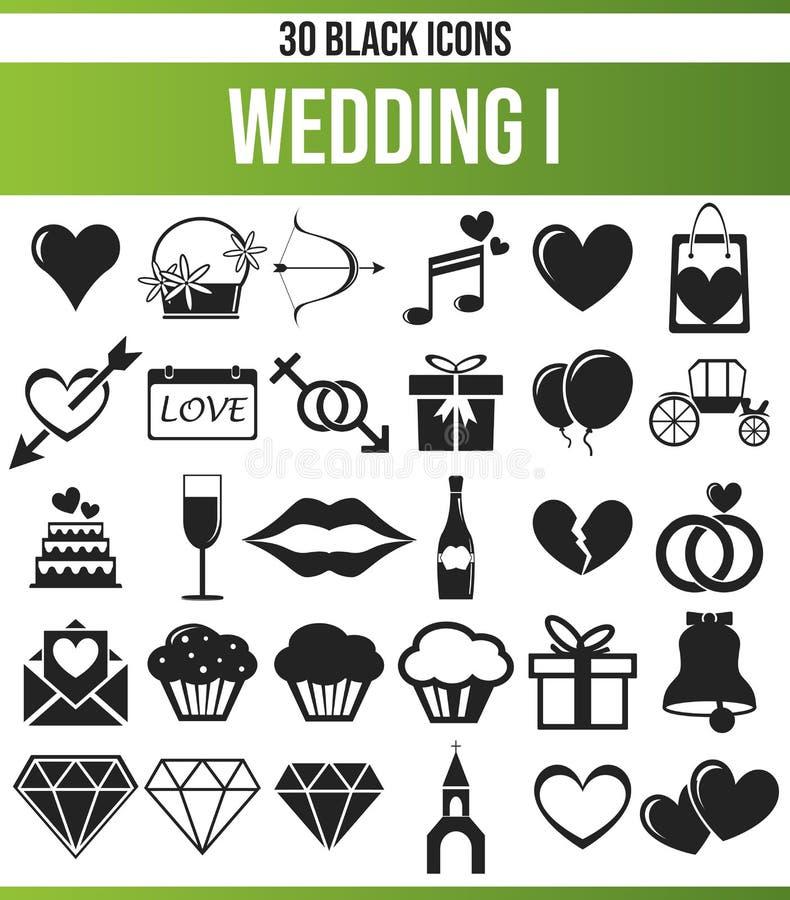 Black Icon Set Wedding I royalty free illustration