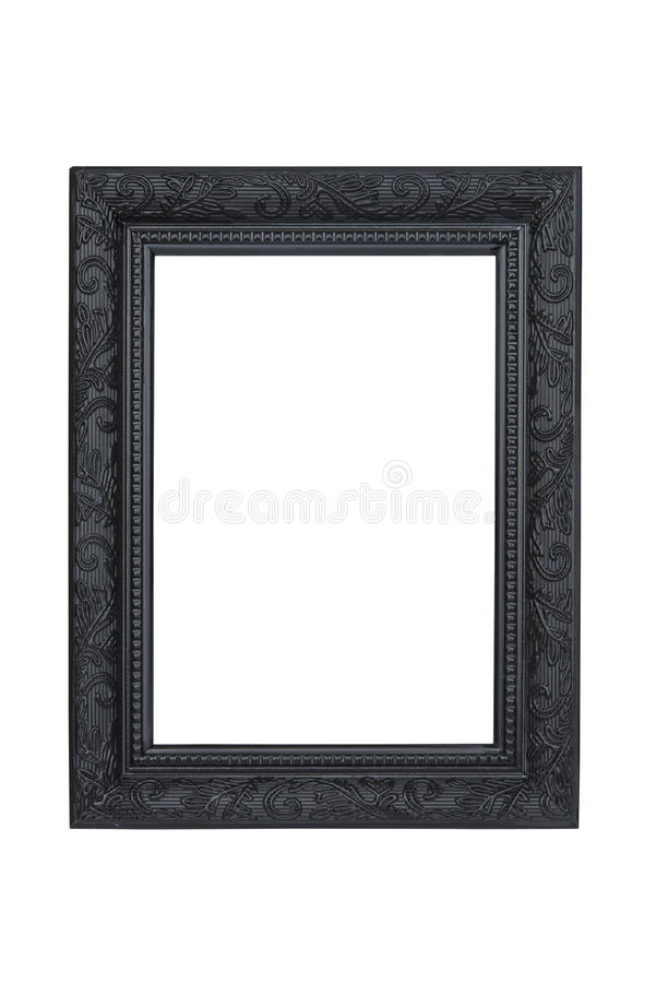 Black picture frame stock photography
