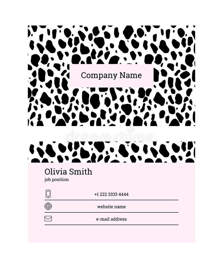 Black and pink business card template stock vector illustration of download black and pink business card template stock vector illustration of layout light fbccfo Image collections