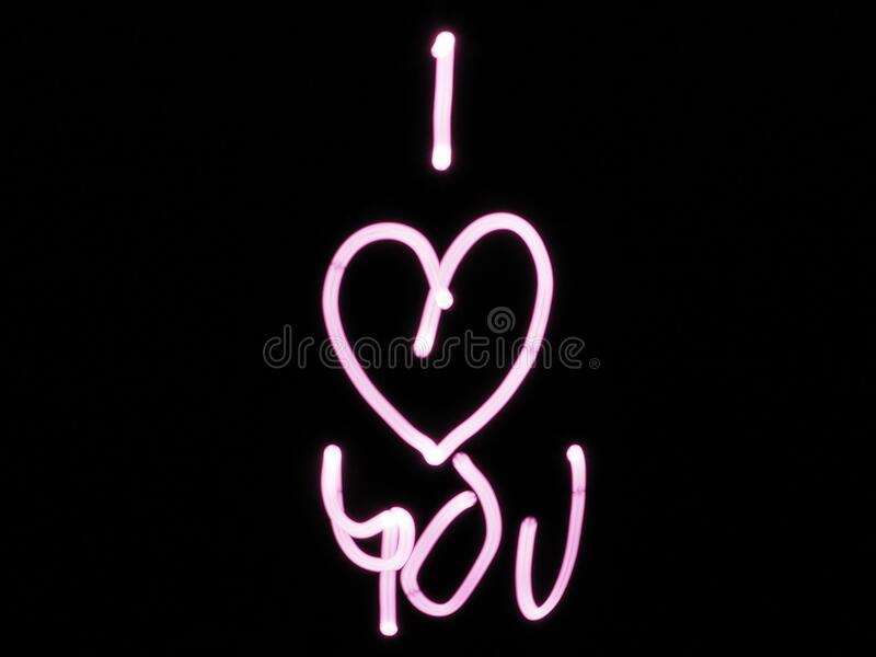 Black And Pink I Heart You Text Free Public Domain Cc0 Image