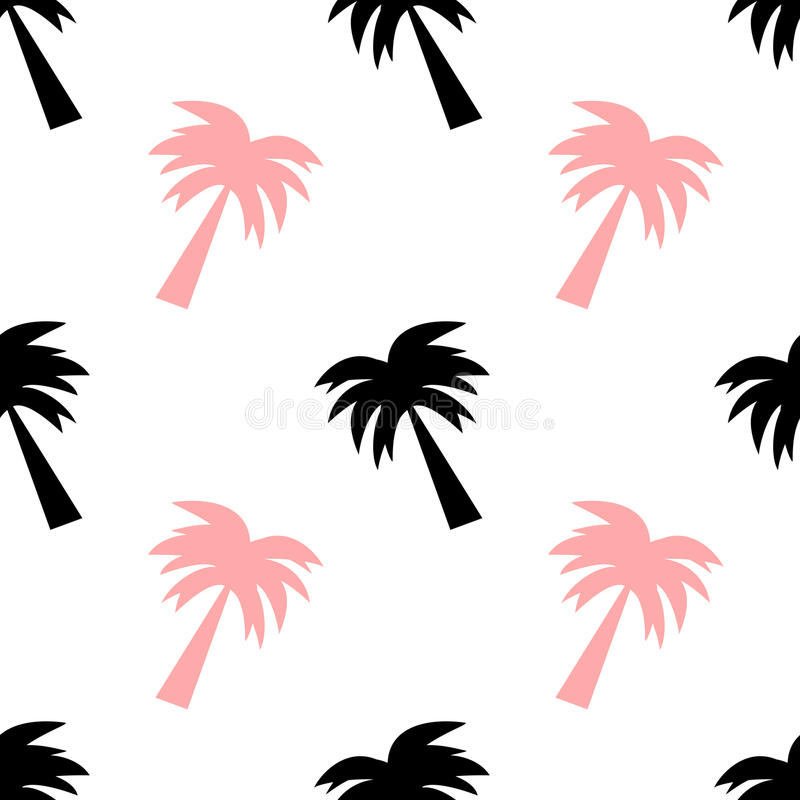 black and pink palm tree seamless pattern background illustration rh dreamstime com