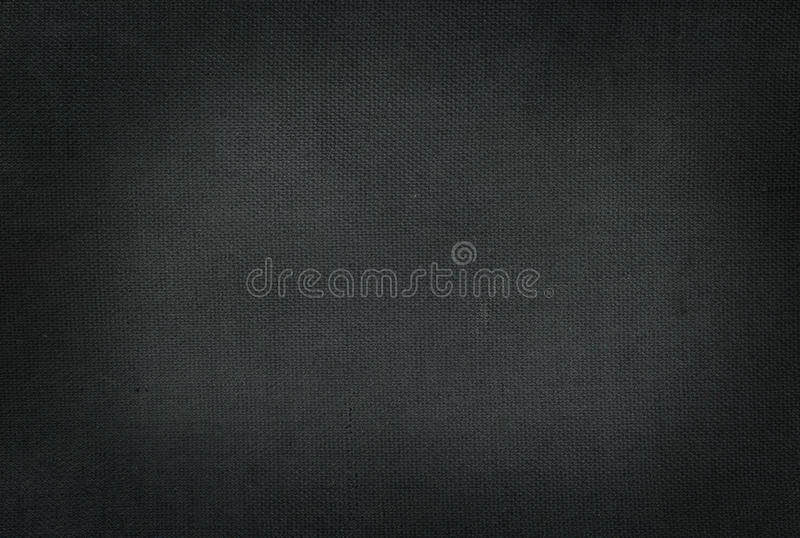 Black plain fabric stock image