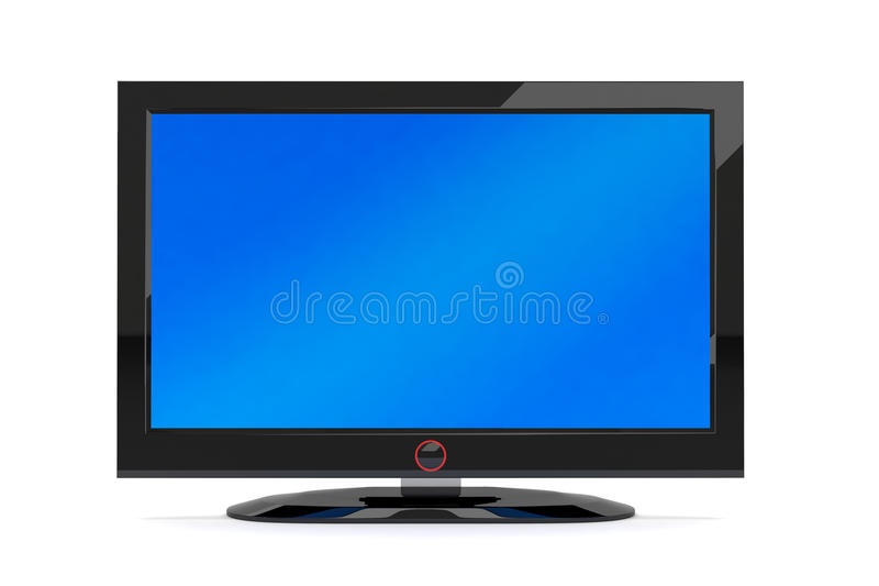 Black plasma tv. A black generic plasma tv on white background vector illustration
