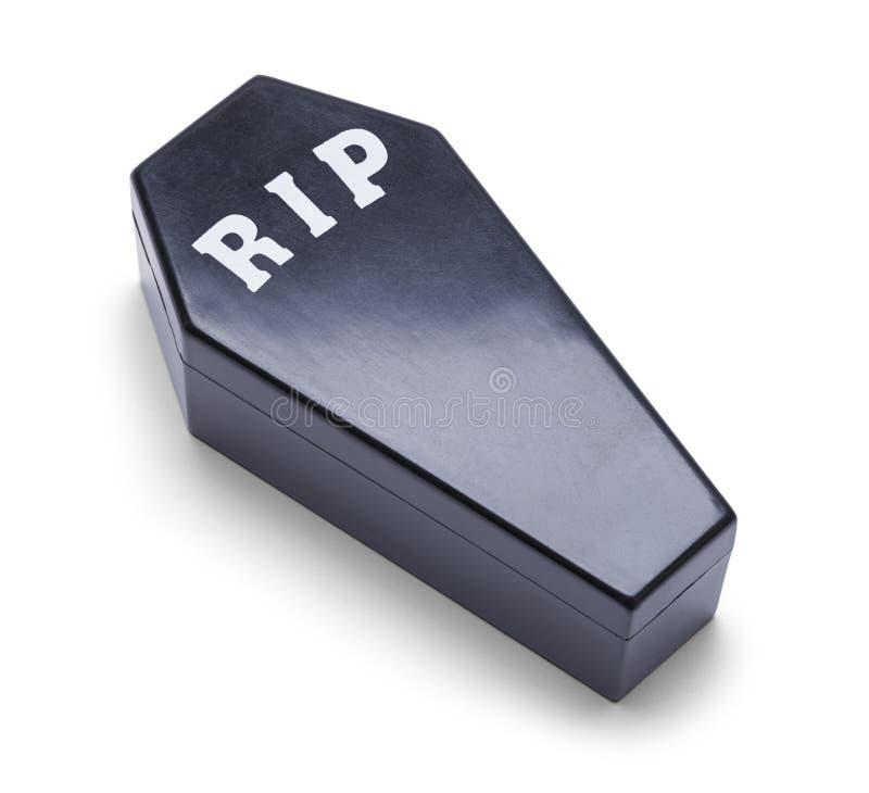 Plastic Coffin stock photo