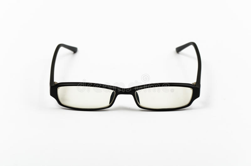 Black plastic frame glasses royalty free stock photography
