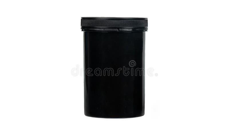 Black plastic jar royalty free stock photos