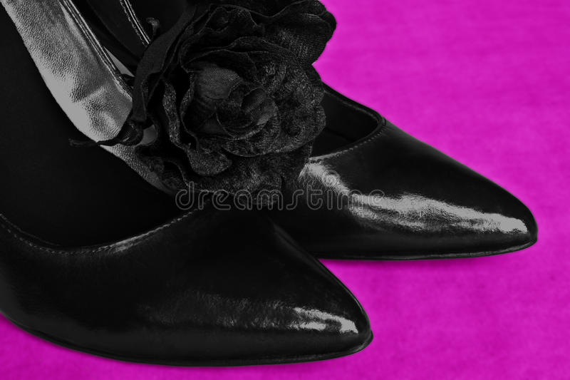 Black Pointed Shoes Royalty Free Stock Photos