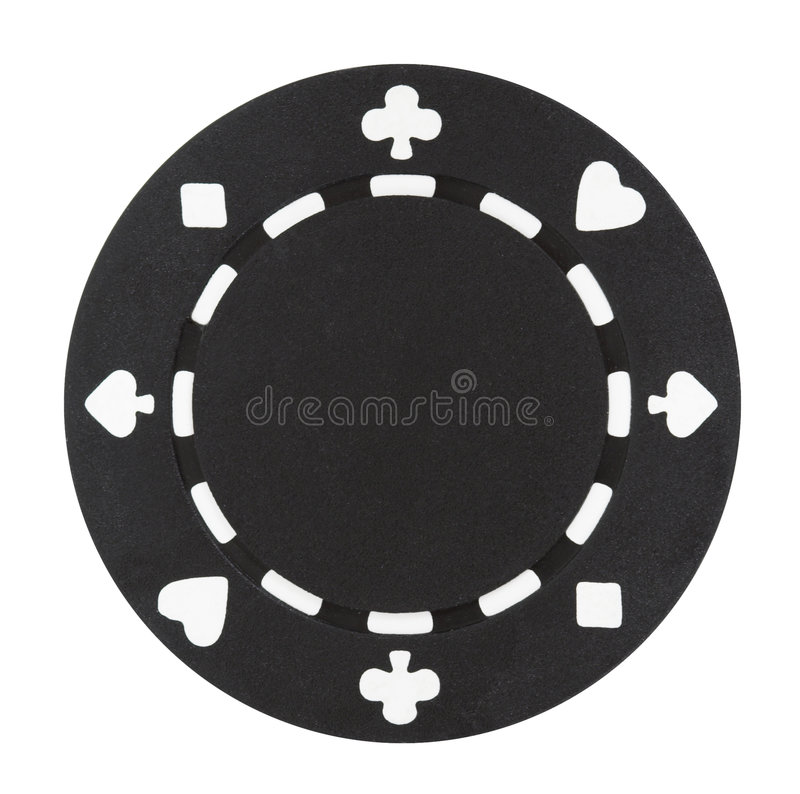 Black Poker Chip royalty free stock photography