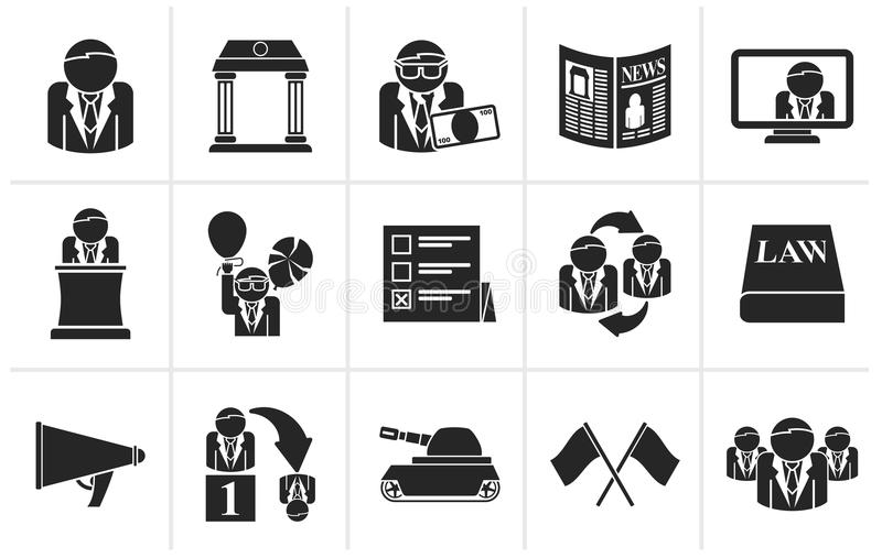 political party symbols coloring pages | Politics, Election And Political Party Icons Stock Vector ...